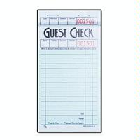 Direct Paper Supply DPSG36161 1 Part Guest Check 100 Checks Per Pad 50 Pads Per Carton Priced by the Carton