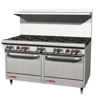 Southbend S60DD Range 60 10 Burners 28000 BTU With Two 26 Ovens 35000 BTU S Series