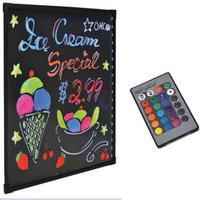 Omcan 39859 LED Write On Flash Menu Display Board with Tempered Glass Wall Mount 22 W x 2912 H